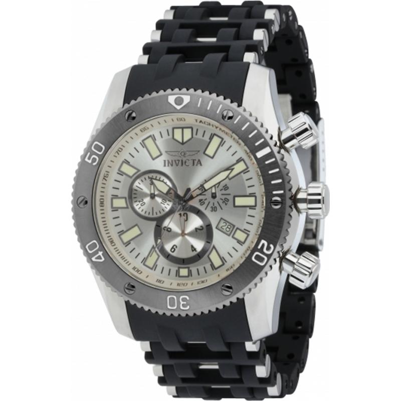 d537e5945af8 Invicta 10243 araña de mar de plata para hombre y reloj cronógrafo negro