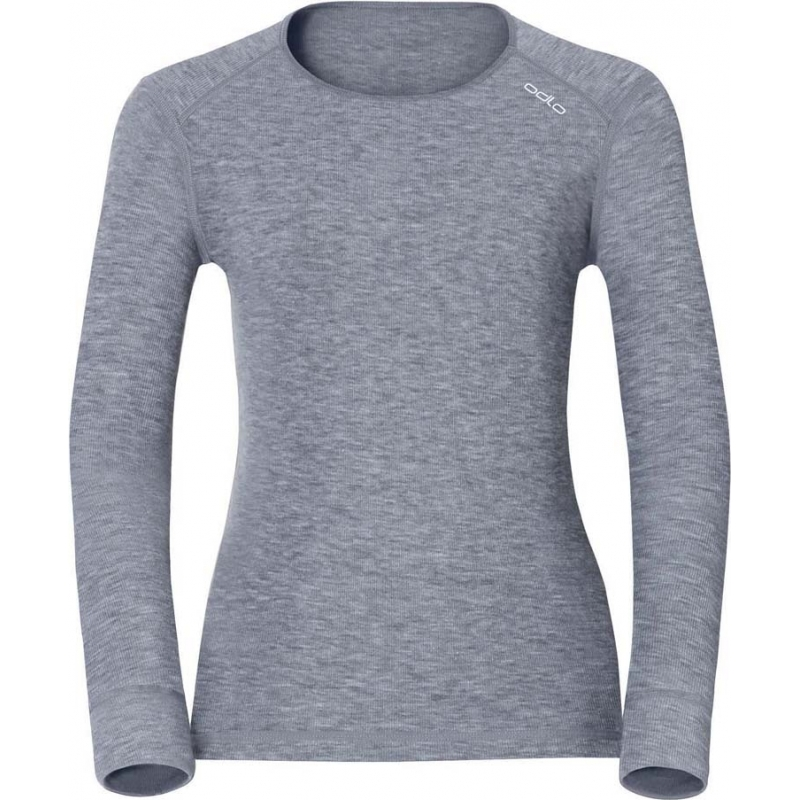 Odlo 152021-15700-XS Ladies Grey Melange Baselayer Top - Size XS