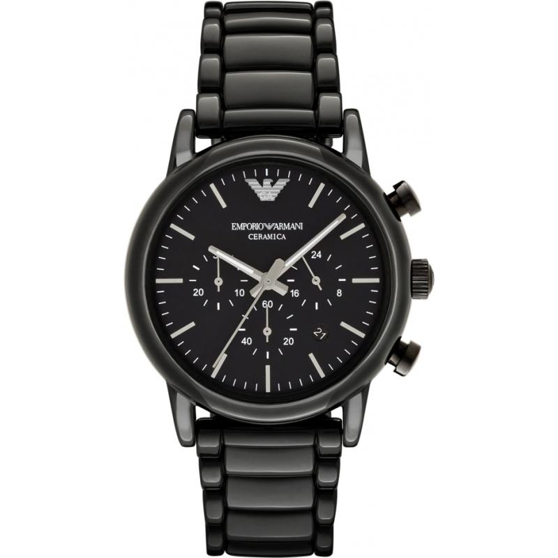 49e0b2988b5 Emporio Armani AR1507 Pánské klasické černé keramické náramek hodinky