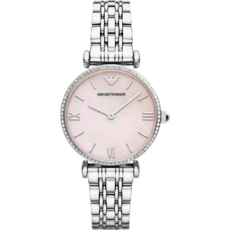 Emporio Armani AR1779 Дамы серебряные часы стали платье 6660b3323c1