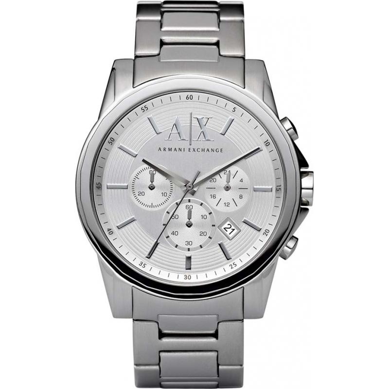 e7e38e549fa Armani Exchange AX2058 Mens Silver Steel Chronograph Dress Watch
