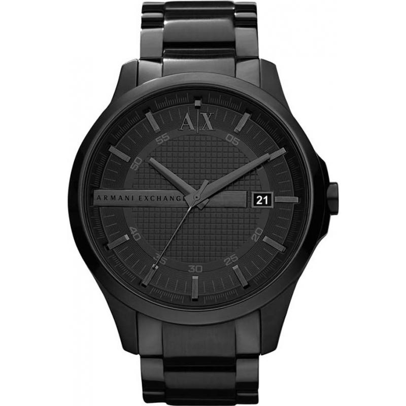 Armani Exchange AX2104 ip preto relógio de vestido pulseira dos homens 87d4e6d7c2