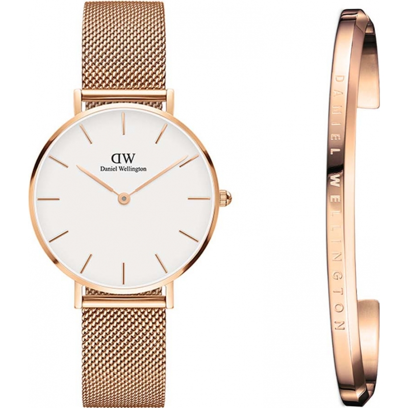 6c5ff79d3693 Daniel Wellington DW00500204 Ladies Classic Petite Melrose 32mm Watch and  Bracelet Gift Set