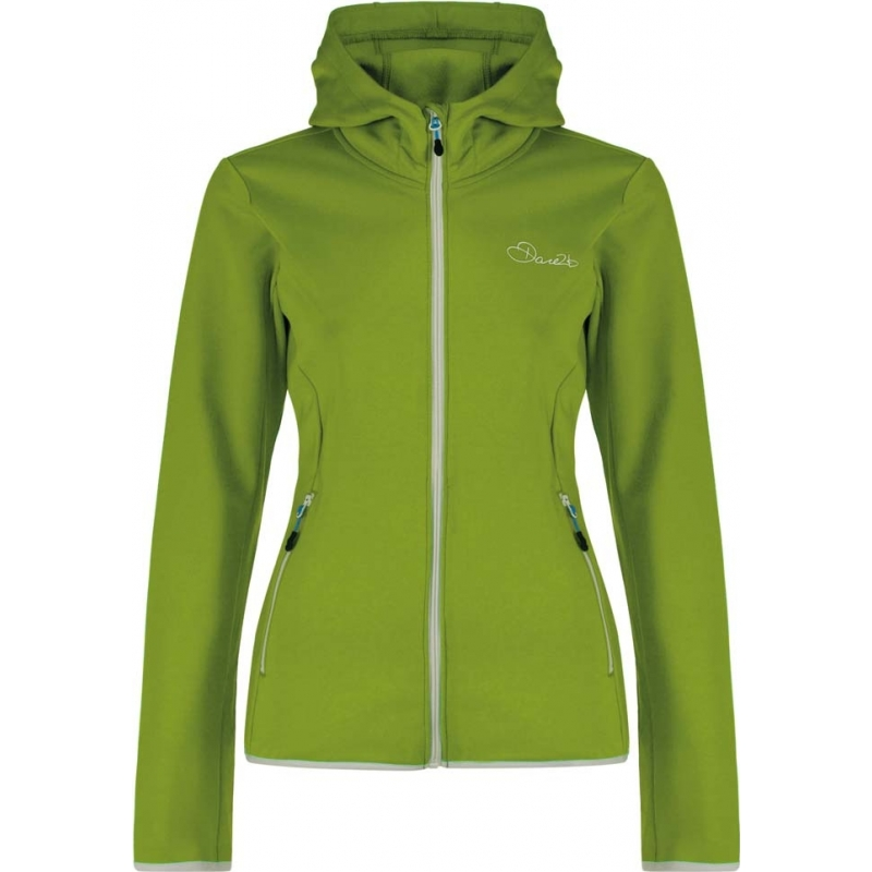 Dare2b DWL319-7FJ20L Ladies Courtesy Core Lime Green Stretch Midlayer - Size UK 20 (XXXL)