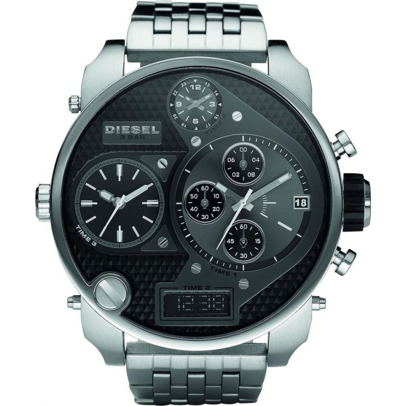 Diesel DZ7221 Pánská Big Daddy stříbrné chronograf hodinky b3a74a62be