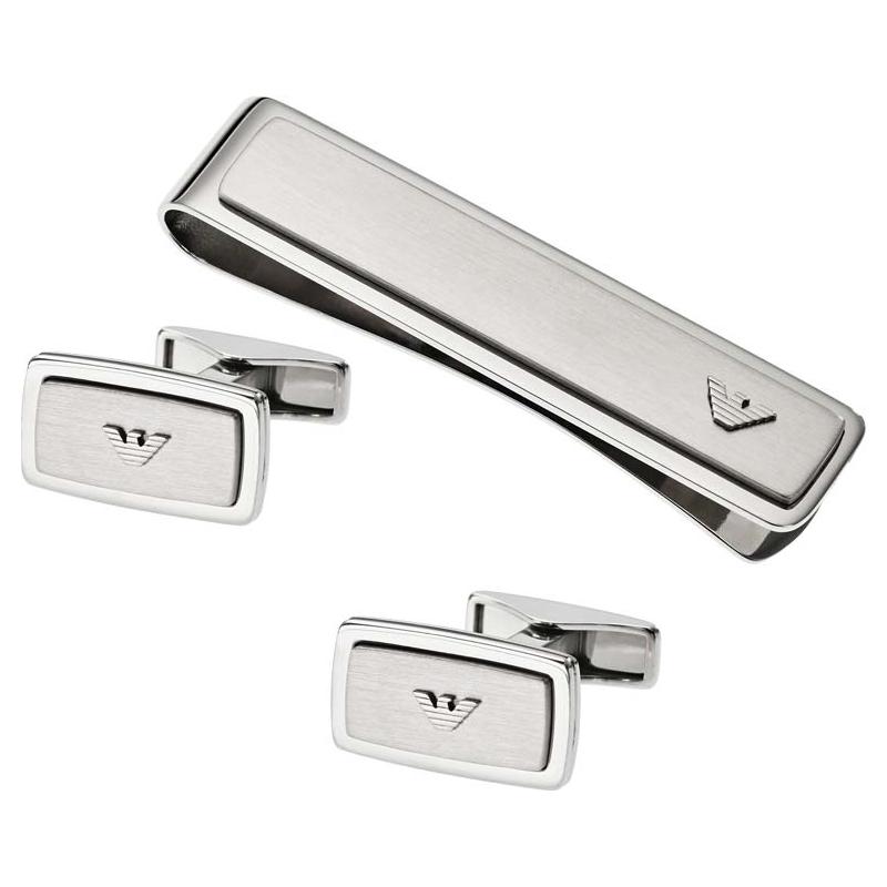 0032147dd66 switzerland emporio armani egs2025040 mens cufflinks and tie clip set 4c058  d1c87