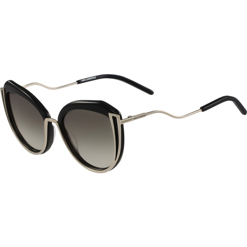 eb5226104d Karl Lagerfeld KL928S-532 Ladies KL928S Shiny Light Gold Black Sunglasses
