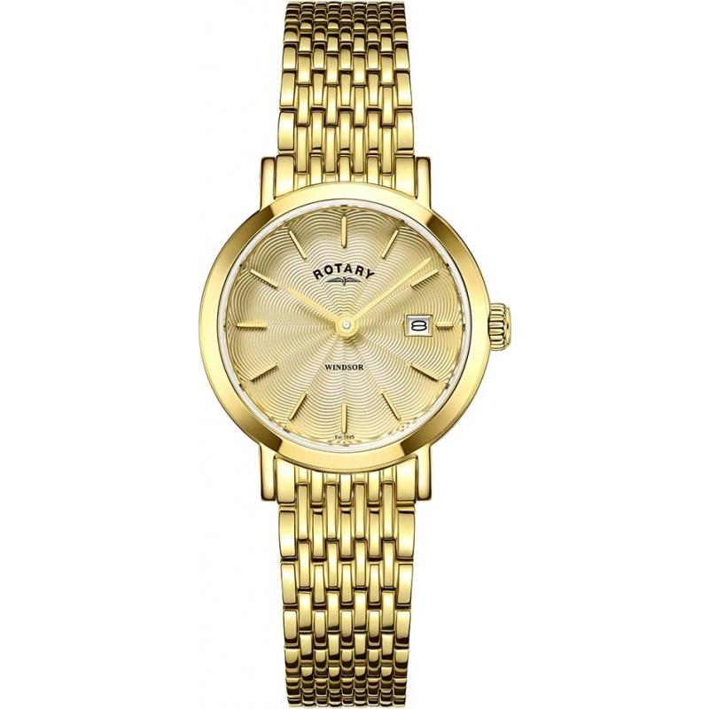 7cefab3d92d374 Rotary LB05303-03 zegarki damskie Windsor pozłacany zegarek