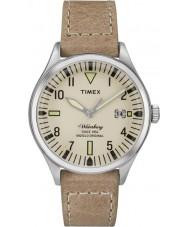 Timex Originals TW2P84500 Mens Waterbury Mid Size Tan Leather Strap Watch