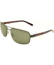 Polo Ralph Lauren PH3095 63 Shiny Green 90059A Polarized Sunglasses
