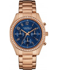 Caravelle New York 44L196 Ladies Melissa Rose Gold Chronograph Watch