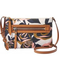 Fossil ZB6591919 Ladies Dawson Rose Print Cross Body Bag