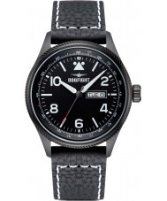 Dogfight DF0067 Mens Wingman Black Leather Strap Watch