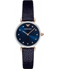 Emporio Armani AR1989 Ladies Dress Blue Leather Strap Watch