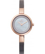 Obaku V129LXVJMJ Ladies Titanium Grey Steel Mesh Bracelet Watch