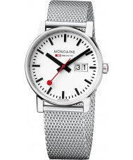 Mondaine A669-30305-11SBM Ladies Evo Big Date Silver Steel Mesh Bracelet Watch