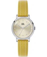 Orla Kiely OK2027 Ladies Patricia Stem Print Yellow Leather Strap Watch