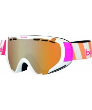 Bolle 21349 Explorer Shiny White Stripes - Citrus Gun Ski Goggles