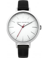 French Connection FC1252BR Ladies Black Padded and Red Double Wrapped Leather Straps Watch