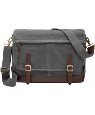 Fossil MBG9078020 Mens Defender Grey Cotton Messenger Bag