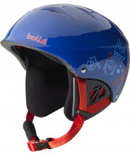 Bolle 31218 B-Kid Shiny Blue Monster Ski Helmet - 53-58cm