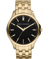 Armani Exchange AX2145 Mens Black Gold Plated Bracelet Dress Watch