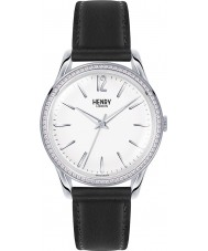Henry London HL39-SS-0019 Ladies Edgware Black Leather Strap Watch
