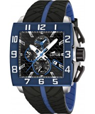 Lotus 15773-1 Mens Black Blue Chronograph Watch