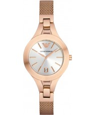Emporio Armani AR7400 Ladies Rose Gold Plated Mesh Bracelet Dress Watch