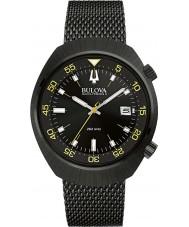Bulova 98B247 Mens BA II Black IP Steel Mesh Watch