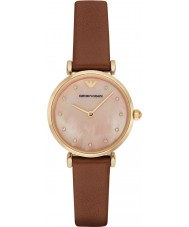 Emporio Armani AR1960 Ladies Brown Leather Strap Dress Watch