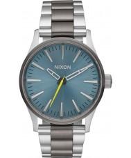Nixon A450-2304 Mens Sentry Silver Steel Bracelet Watch