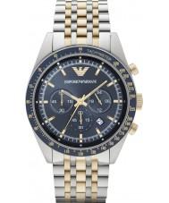 Emporio Armani AR6088 Mens Two Tone Chronograph Sports Watch