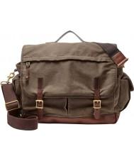 Fossil MBG9118200 Mens Defender Brown Cotton Top Handle Messenger Bag