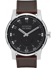 Nixon A938-000 Mens Patriot Black Horween Leather Watch