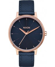 Nixon A108-2195 Ladies Kensington Navy Leather Strap Watch