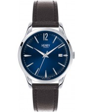 Henry London HL39-S-0031 Knightsbridge Black Leather Strap Watch