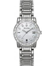 Bulova 96W105 Ladies Diamond Silver Steel Bracelet Watch