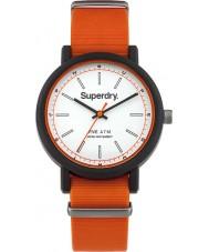 Superdry SYG197O Mens Campus Nato Orange Silicone Strap Watch