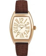 Pocket PK3018 Mens Tonneau Classique Grande White Brown Watch