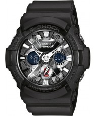 Casio GA-201-1AER Mens G-Shock World Time Black Chronograph Watch
