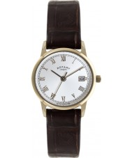 Rotary LS02754-21 Ladies Timepieces Gold Plated Brown Leather Watch