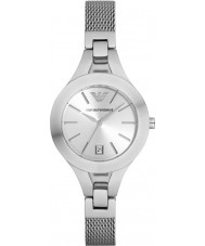 Emporio Armani AR7401 Ladies Silver Plated Mesh Bracelet Dress Watch