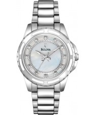 Bulova 96S144 Ladies Diamond Silver Steel Bracelet Watch