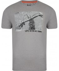 Dare2b Mens Behind Bars Ash Grey Marl T-Shirt