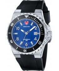 Swiss Eagle SE-9039-02 Mens Dive Response Black Silicone Strap Watch