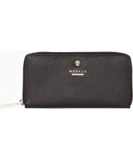 Modalu MS6321-BLACK Ladies Pippa Black Ziparound Purse