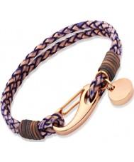 Chriselli Unique Ladies Antique Two Tone Leather Bracelet