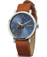 Disney by Ingersoll DIN007SLBR Mens Classic Mickey Mouse Brown Leather Strap Watch