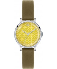 Orla Kiely OK2029 Ladies Patricia Stem Print Olive Leather Strap Watch